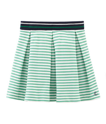 Girls' Skirt Shorts Aloevera green / Marshmallow white