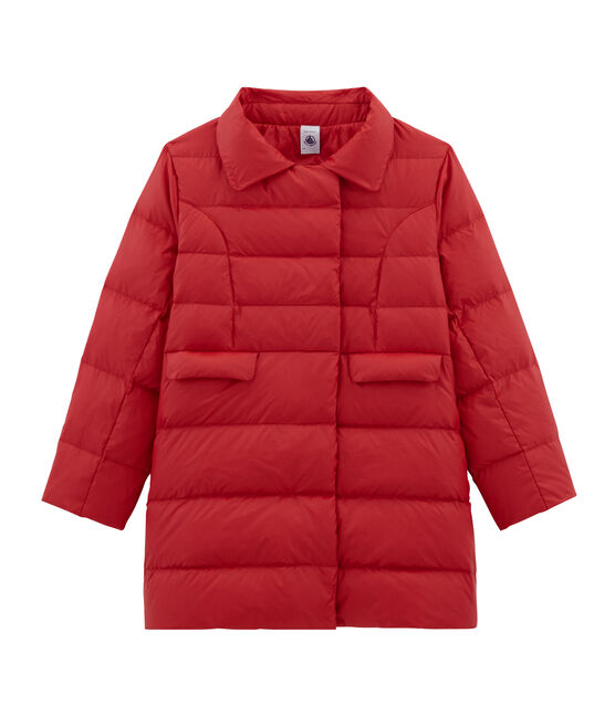 Girls' Feather and Down Coat Terkuit red