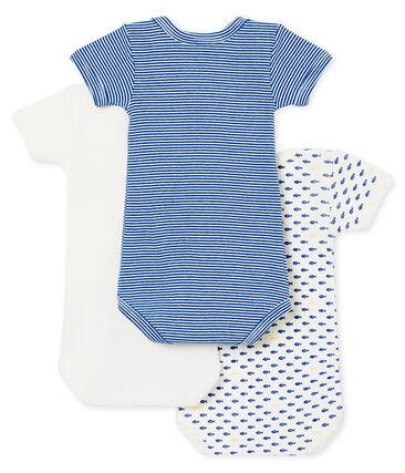 Baby boy's short sleeved body trio