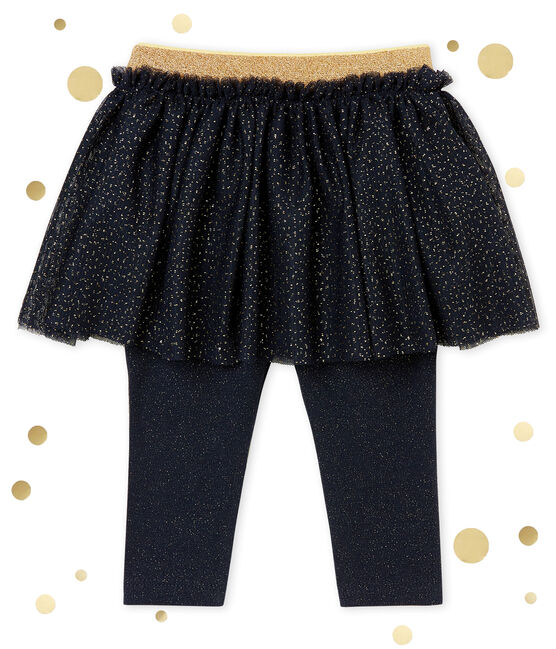 Baby girl's leggings dress Smoking blue / Dore yellow
