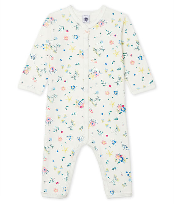 Baby Girls' Footless Sleepsuit Marshmallow white / Multico white