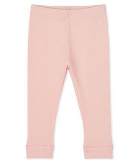 Baby girl's leggings in plain 1x1 rib knit MINOIS