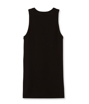 Women's Plain Sleeveless Top Noir black