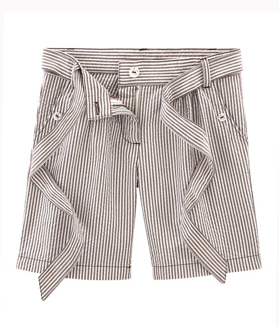 Girls' Shorts Vino red / Marshmallow white