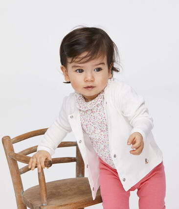 Baby Girls' Light Cardigan Marshmallow white