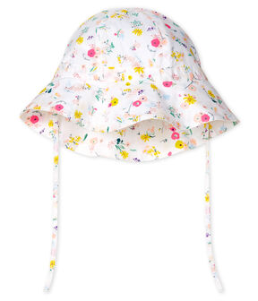 Wide-brimmed hat for baby girls . set