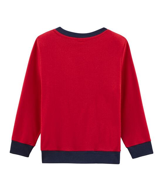 Boys' Ribbed Sweatshirt Terkuit red