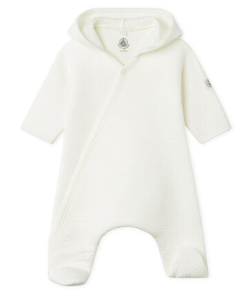 Babies' Long Jumpsuit in Quilted Tube Knit