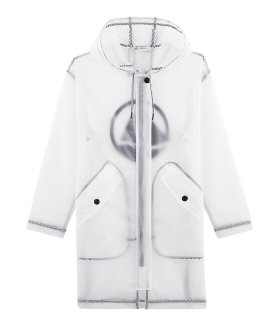 Unisex Long Waxed Coat Translucide white