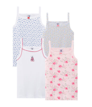 Surprise pack of 4 tops with straps for girls