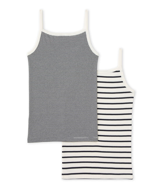 Girl's strap vest duo . set