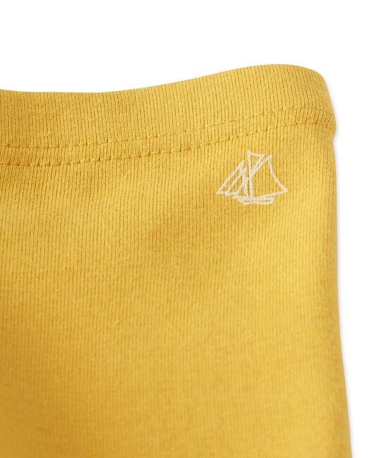 Baby girls' leggings Ocre yellow