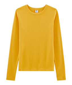 Women's Long-Sleeved Iconic T-Shirt Boudor yellow