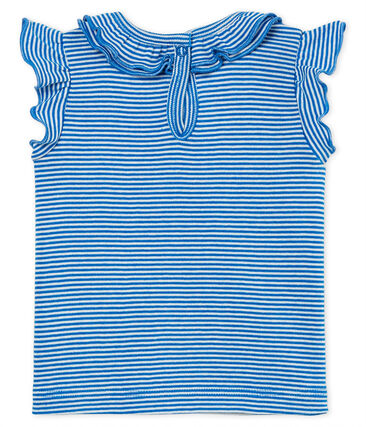 Baby girls' blouse Riyadh blue / Marshmallow white