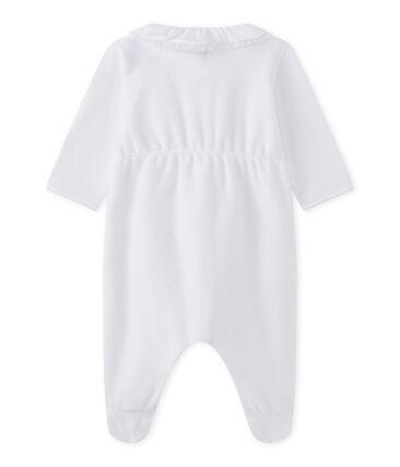 Baby girls' velour sleepsuit