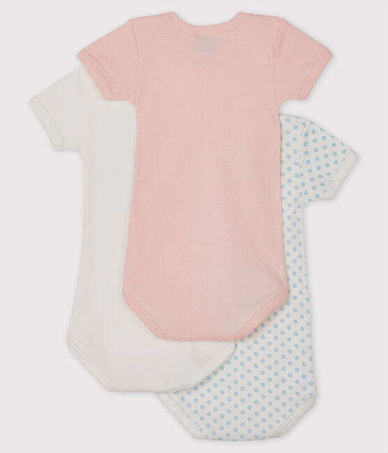 Baby girls' short-sleeved bodysuit - Set of 3 . set