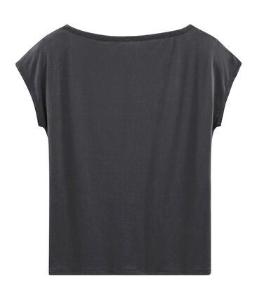 Women's short-sleeved sea island cotton t-shirt Maki grey