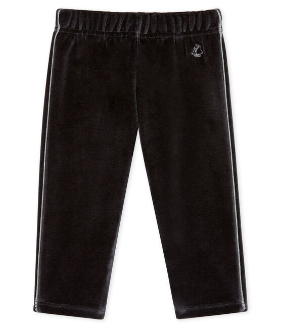 Baby Boys' Velour Knit Trousers Noir black
