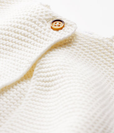 Babies' Cardigan Made Of 100% Cotton Knit Marshmallow white