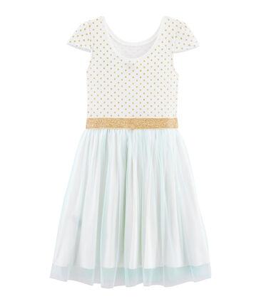 Girls' Short-Sleeved Dress Marshmallow white / Multico white