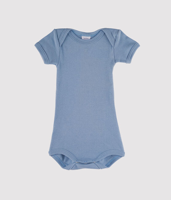 Baby Boys' Short-Sleeved Bodysuit Acier blue