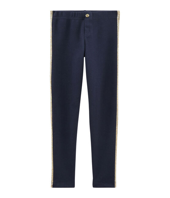 Girls' Knit Trousers Smoking blue