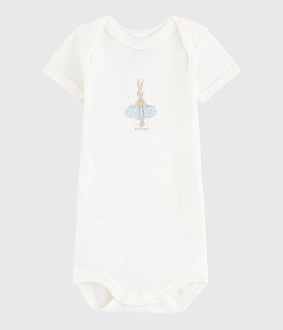 Baby Boys' Short-Sleeved Bodysuit Lait white