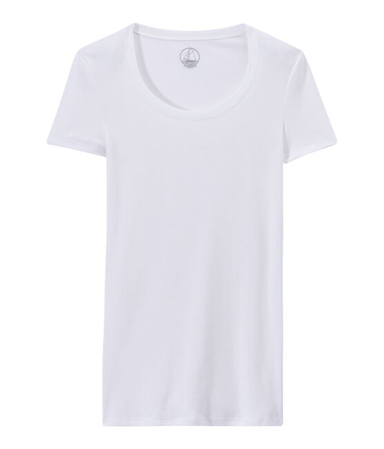 Women's light cotton tee Lait white