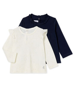 Baby Girls' Long-sleeved T-Shirt - 2-Piece Set
