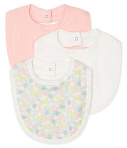 Baby Girls' Bibs - 3-Piece Set . set