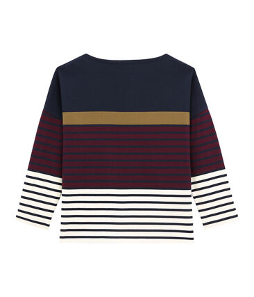 women's breton top with placed stripe