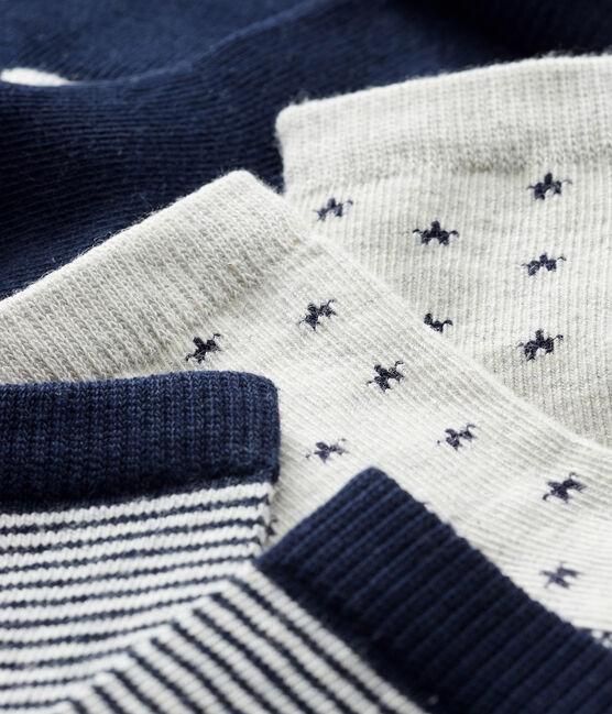 Baby Boys' Socks - 3-Piece Set Beluga grey / Smoking blue