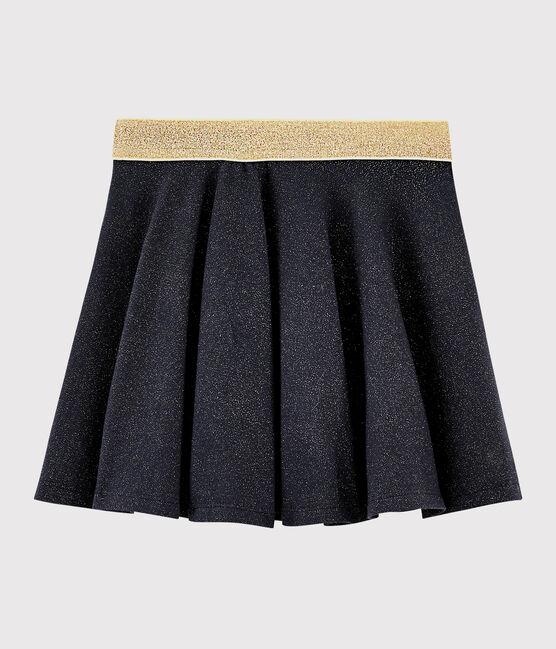 Girls' mesh knit skirt Smoking blue / Or yellow