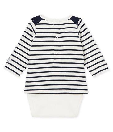 Baby boys' striped T-shirt/bodysuit