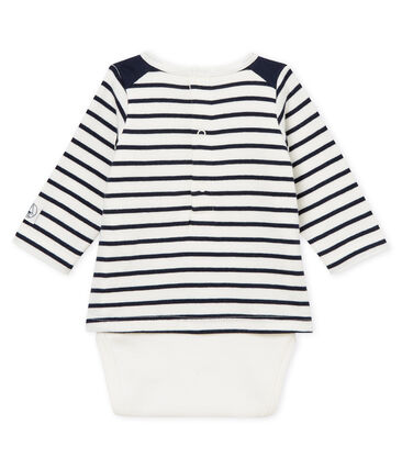 Baby boys' striped T-shirt/bodysuit
