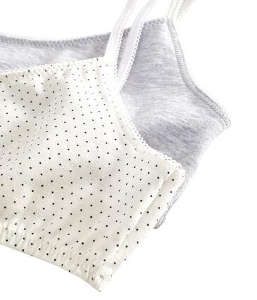Girls' Stretch Cotton crop tops - Set of 2