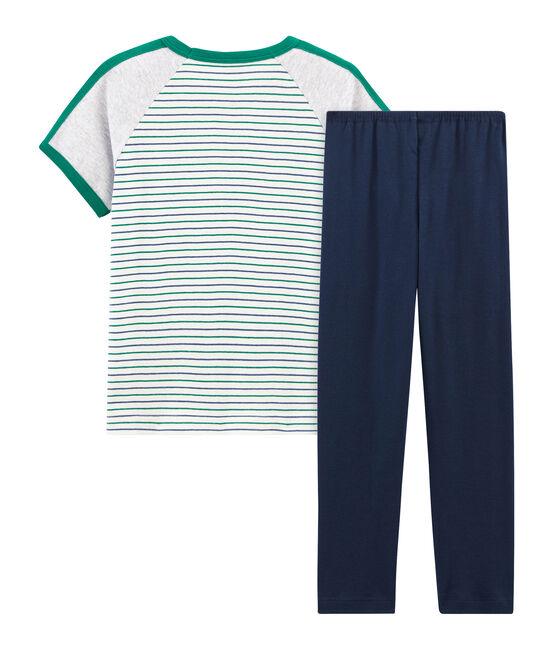 Boys' Short-sleeved Pyjamas Marshmallow white / Multico white