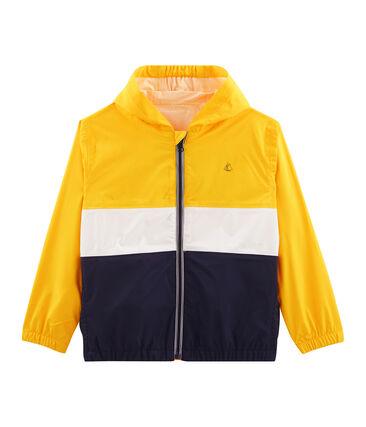 Boys' Short Windbreaker Jaune yellow / Multico white