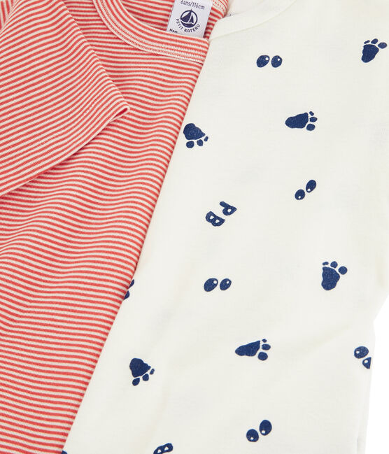 Boys' Yeti Footprint Short-sleeved T-Shirt - 2-Piece Set . set