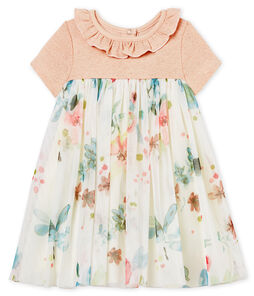Baby girls' dual-material dress