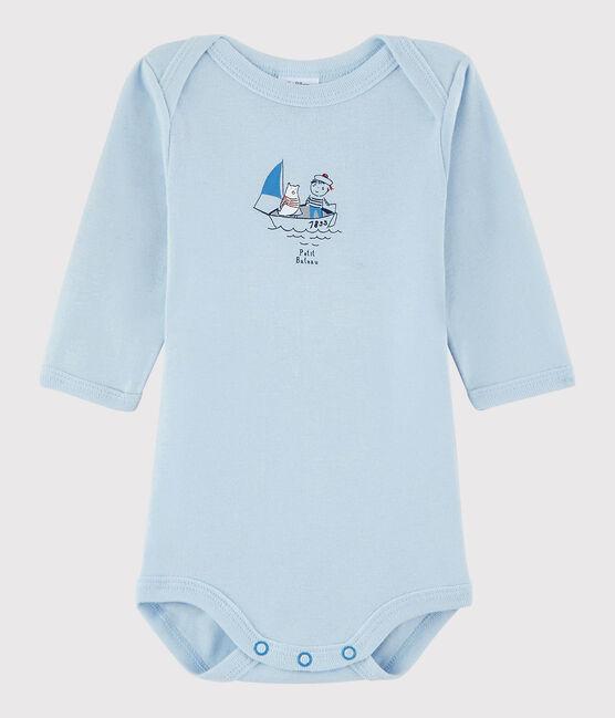 Baby Boys' Long-Sleeved Bodysuit Fraicheur blue