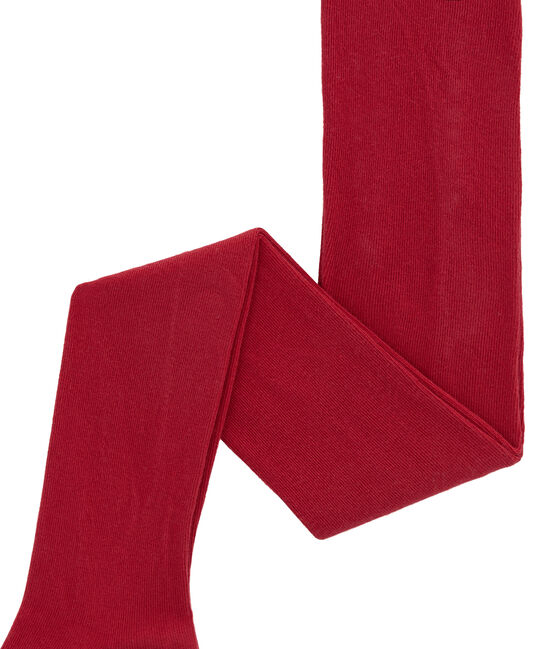 Girl's jersey tights Terkuit red