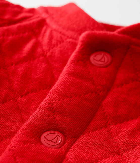 Baby boy's padded cotton tubic cardigan Terkuit red