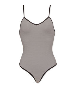 1-piece swimsuit Abysse blue / Lait white