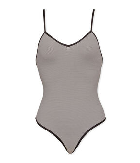 One-Piece Swimsuit Abysse blue / Lait white