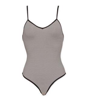 1-piece swimsuit Abysse blue / Lait white