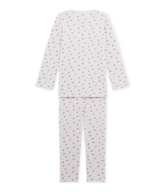 Pyjama fille imprimé petites fleurs Bocal blue / Multico white