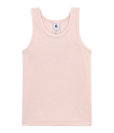 Little girl's vest top in wool and cotton