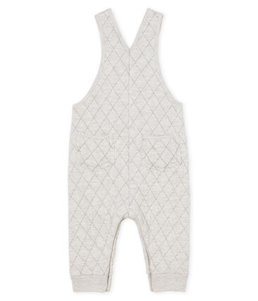 Baby Boys' Long Quilted Tube-Knit Dungarees