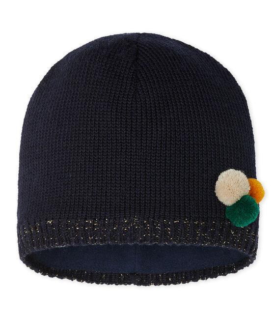 Girls' Woolly Hat Smoking blue
